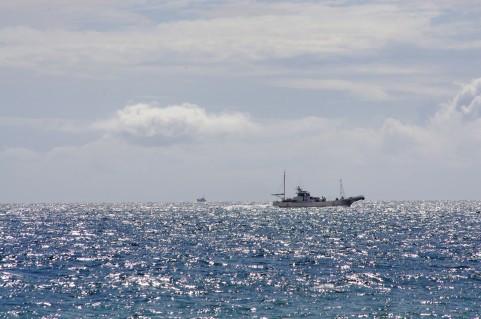 海と船の写真