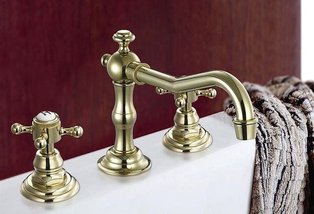 シャワールームの蛇口