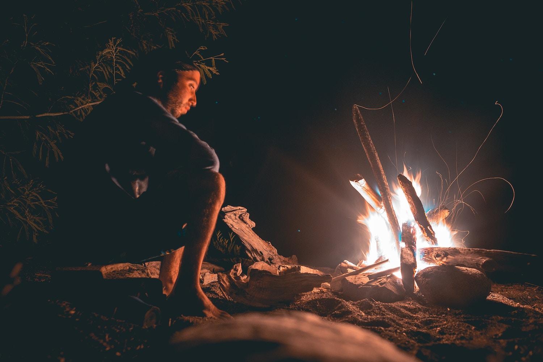 ひとり、火を見る