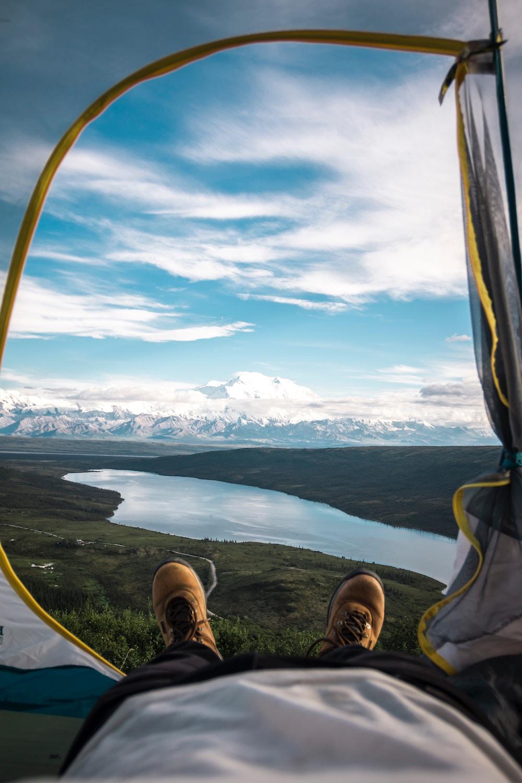 テントから見える景色